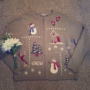 Croft & Barrow zip up Holiday Sweater
